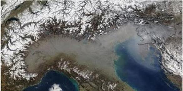 North Italy pollution