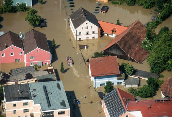 Deggendorf flooded area