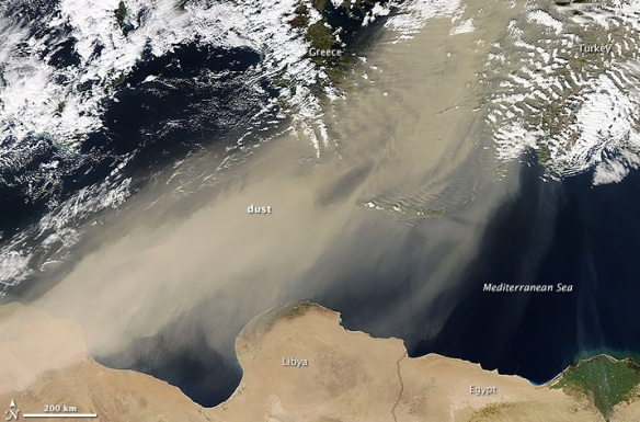 middle east sandstorm